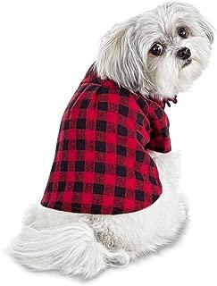 Bond & Co. Brushed Buffalo Check Flannel Dog Shirt, Large