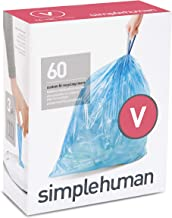 Code V Recycling - 16-18L / 4.2-4.8 Gallon - 60 Liners, 60 Packs : simplehuman Code V Custom Fit Recycling Liners, Drawstring Trash Bags, 16-18 Liter / 4.2-4.8 Gallon, 3 Refill Packs (60 Count), Blue