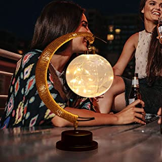 Led-maanlamp met wensbol, betoverde maanlamp, led-maanlamp voor kinderen, nachtlampje, Galaxy lamp, bureauversiering, hang...