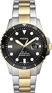 Fossil Men's FB-01 Quartz Watch with Stainless Steel Strap, Multicolor, 22 (Model: FS5653)