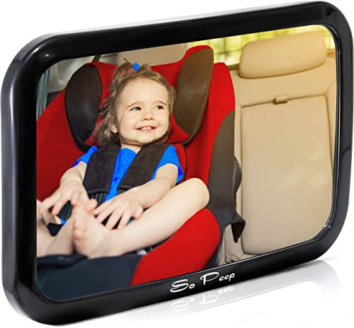 popular Shatterproof Baby Backseat Mirror for Car - View Infant outlet online sale in Rear Facing Car Seat - Newborn Safety With Secure Crash Tested Headrest Double-Strap - Essential Car online Seat Accessories online