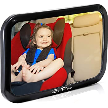 Crystal Clear View of Infant in Rear Facing Car Seat Baby Backseat Mirror For Car Secure and Shatterproof Safe Largest and Most Stable Mirror with Premium Matte Finish