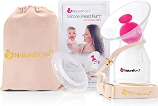 NatureBond Silicone Breastfeeding Manual Breast Pump Milk Saver Nursing Pump | All-in-1 Pump Strap, Stopper, Cover Lid, Ca...