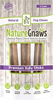 Nature Gnaws Large Bully Sticks 5-6 inch - 100% Natural Beef Dog Chews