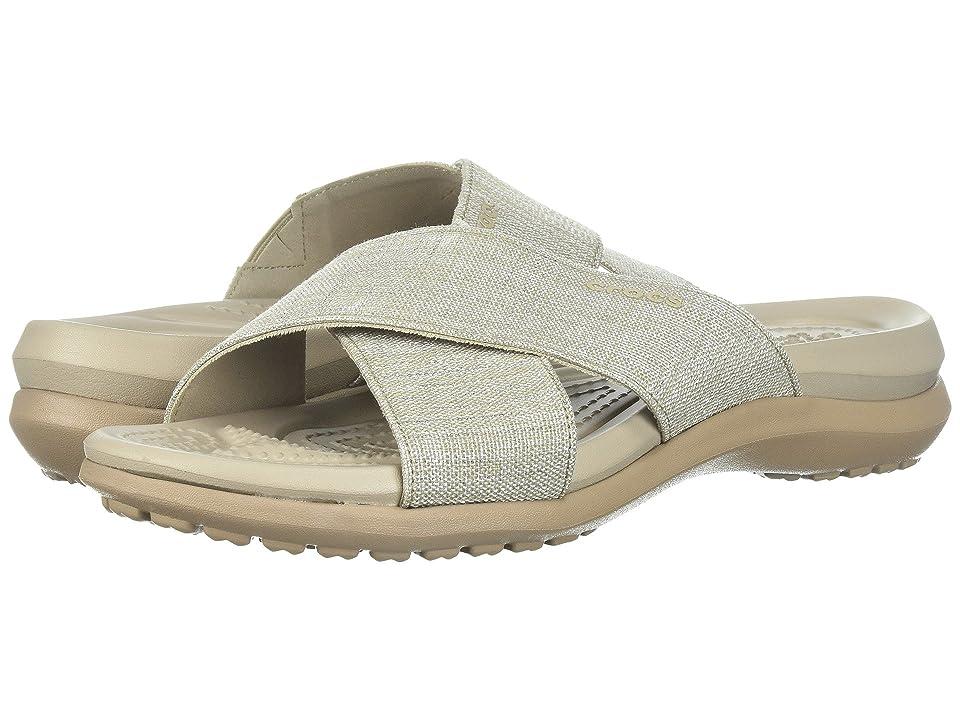Crocs Capri Shimmer Xband (Oyster/Cobblestone) Women