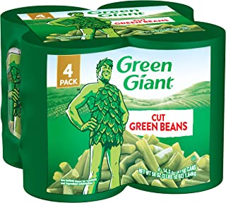Green Giant Cut Green Beans, 4 Pack of 14.5 Ounce Cans