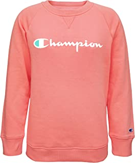Champion Heritage Girls Classic Fleece Pullover Crewneck Sweatshirt Kids Clothes