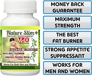 1 Bottle Nature Slim Plus MAX 30 Capsules. The Best Weight Loss+Fat Burner. Really Works!!!