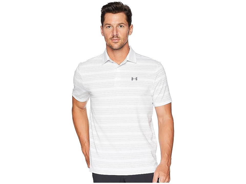 Under Armour Golf UA Playoff Polo (White/White/Rhino Gray) Men