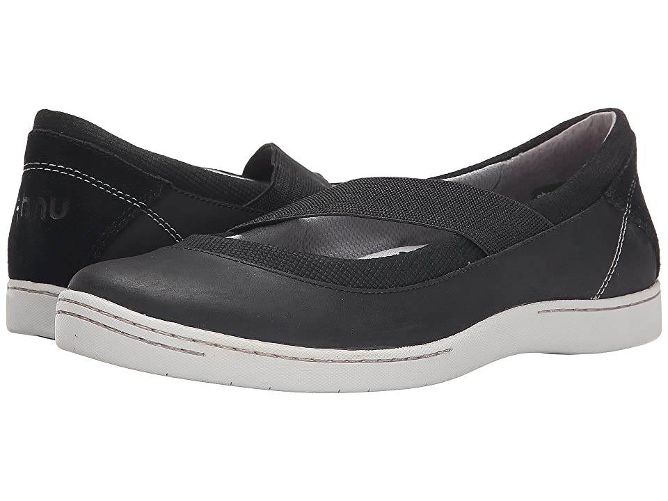 Image of Ahnu Telegraph Leather (New Black) Women's Slip on Shoes