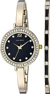 ساعة ذهبية للنساء مزينة بكريستالات سواروفسكي من أرمترون ومجموعة سوار