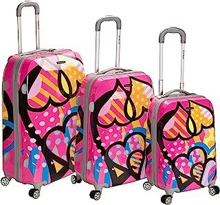 Rockland Vision Hardside Spinner Wheel Luggage, Love, 3-Piece Set (20/24/28)