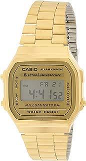 Casio A168WG-9 Men's Vintage Gold Metal Band Illuminator...