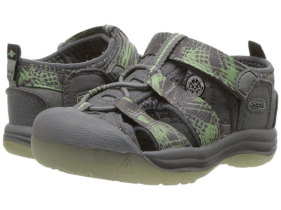 Keen Kids Newport H2 (Toddler) (Steel Grey/Glow) Boys Shoes