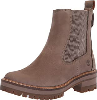 Timberland Women's Courmayeur Valley Chelsea Boot Taupe Nubuck