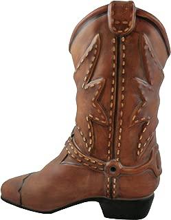 Accents & Occasions Ceramic Cowboy Boot Planter or Flower Arrangement Vase, 6-1/2-Inch