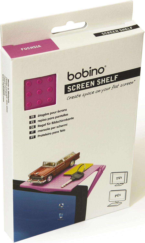 Bobino Screen Shelf Original - Fuchsia - Stylish Minimalist Monitor Mounted Organizer