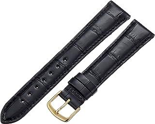 Hadley-Roma Men`s MS2007RA-170 17-mm Black Genuine Alligator Leather Watch Strap