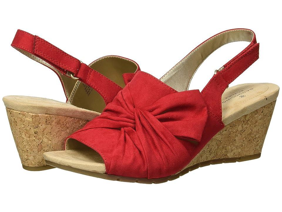Bandolino Gayla (Crimson Faux Suede) Women