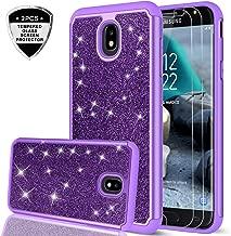 LeYi Galaxy J7 Refine/J7 2018/J7 Star/J7 Top/J7 Aura/J7 Aero/Crown/Eon Case with HD Screen Protector for Girls Women, Glitter Protective Phone Case for Samsung J7 V 2nd Gen TP Purple