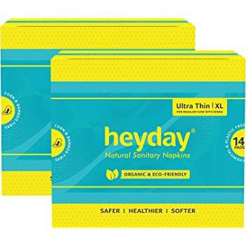 Heyday Organic & Natural Ultra Thin Sanitary Napkins (28 Pack)