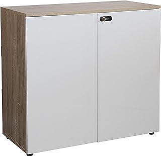 Wonderhome Armoire de Bureau Support d'imprimante pour classeur latéral à 3 Niveaux en Bois Blanc avec étagères de Rangement