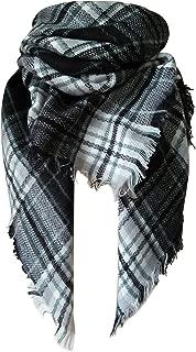Tartan Blanket Scarf Stylish Winter Warm Pashmina Wrap Shawl for Women
