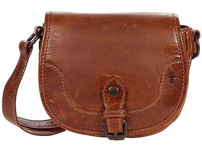 Frye Melissa Button Saddle (Cognac) Handbags