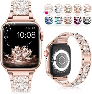 LELONG for Apple Watch Band 38mm 40mm 41mm Series 7 Series 6 5 4 3 2 1 SE, Bling Replacement...