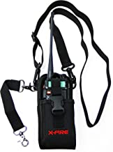 X-Fire Radio Strap Firefighter Shoulder Holster Combo with Anti-Sway Strap for Firefighter Tactical Radios Two Way Ham Portable CB Walkie Talkie GPS Scanner Holder Great for Fire EMS SAR Search Rescue