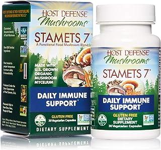 Host Defense, Stamets 7 Capsules, Daily Immune Support, Mushroom Supplement with Lion's Mane, Reishi, Vegan, Organic, 30 C...