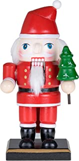 Clever Creations Traditional Christmas Chubby Santa Claus Nutcracker Holding Christmas Tree | 6