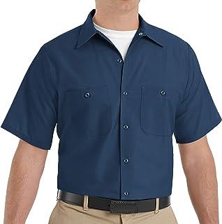 Red Kap Men's Industrial Short-Sleeve Work Shirt - Black - Short Sleeve X-Large
