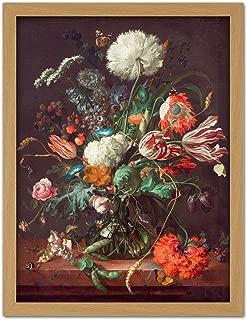 Jan Davidsz De Heem Vase of Flowers Large Framed Art Print Poster Wall Decor 18x24