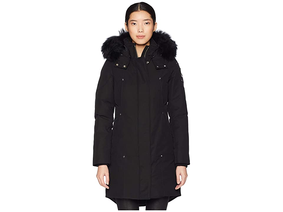 Moose Knuckles Shearling Stirling Parka (Black/Black) Women