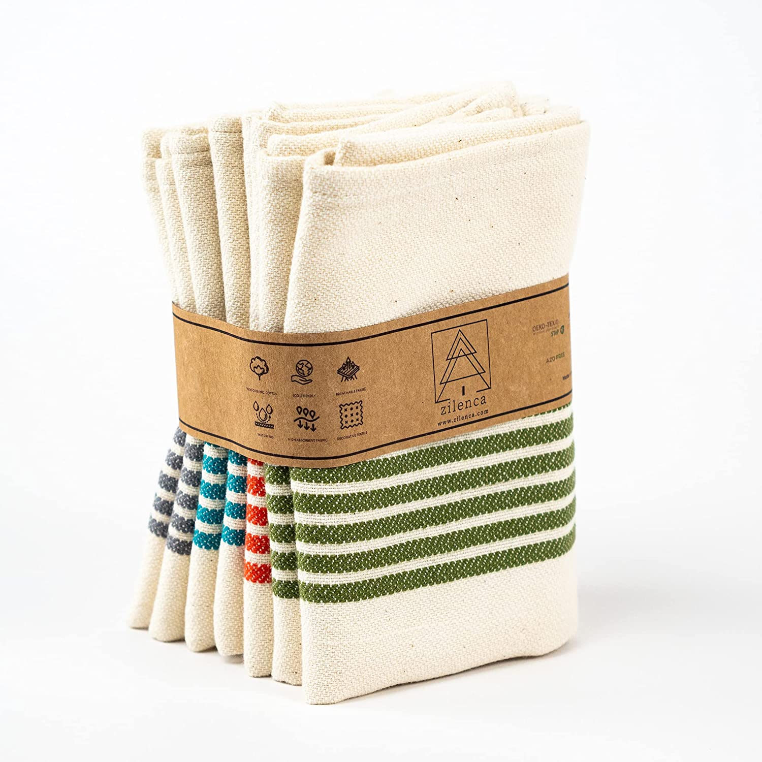 Zilenca Kitchen Towels Online limited product New products world's highest quality popular Set of 4 17x30 %100 Cotton Towel