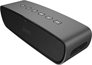 JAM Heavy Metal Wireless Stereo Speaker, Built-In Speakerphone, Powerful 20 Watt Speakers, Aluminum Body, Voice Prompts, Incredible Bass, For Audiophiles, Clean Treble, Massive Volume, HX-P920