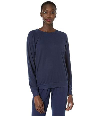 Eberjey Mina The Ringer Sweatshirt (Navy Blazer) Women