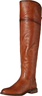 Franco Sarto Women's Haleen Over-the-Knee Boot, Cognac Wide Calf, 9.5