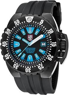 1503-S1 Men's Deep Diver 1500 Series Automatic Black Polyurethane Blue Accents Watch