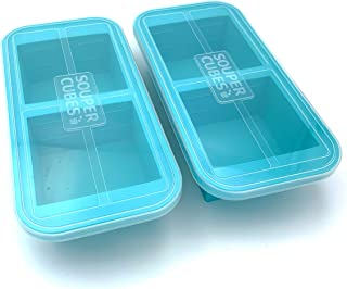 Sponsored Ad - Souper Cubes 2-Cup Extra-Large Silicone Freezer Tray with lid- 2 pack - makes 4 perfect 2 cup portions - fr...