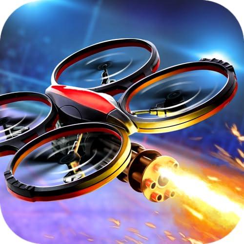 Quadcopter Go - RC Flight Simulator: spiele Luftkampf Simulator mit Drohnen, wo Flieger in Krieg App mit Drohne fliegen, kämpfen, mit Waffen, Kanonen auf andere Militär Kampfflugzeuge schiessen