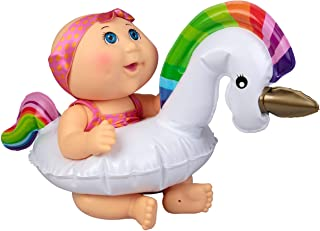 Wicked Cool Toys Cabbage Patch Kids Splash N' Float Newborn - Blue Eyed Baby with Unicorn Tube - Play in or Out of Water -...