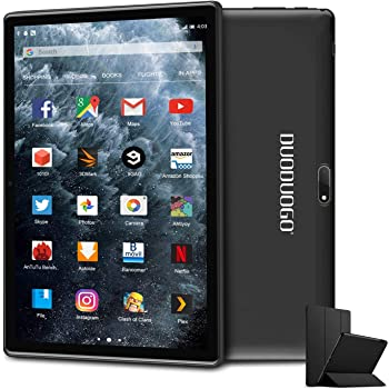 Tablet, Android 9.0 Pie, 10.1 inch Tablets PC Quad-Core with 3GB RAM 32GB ROM, IPS HD Display, 8MP Rear Camera, Bluetooth 5.0, 4G WiFi, GPS- (Black)
