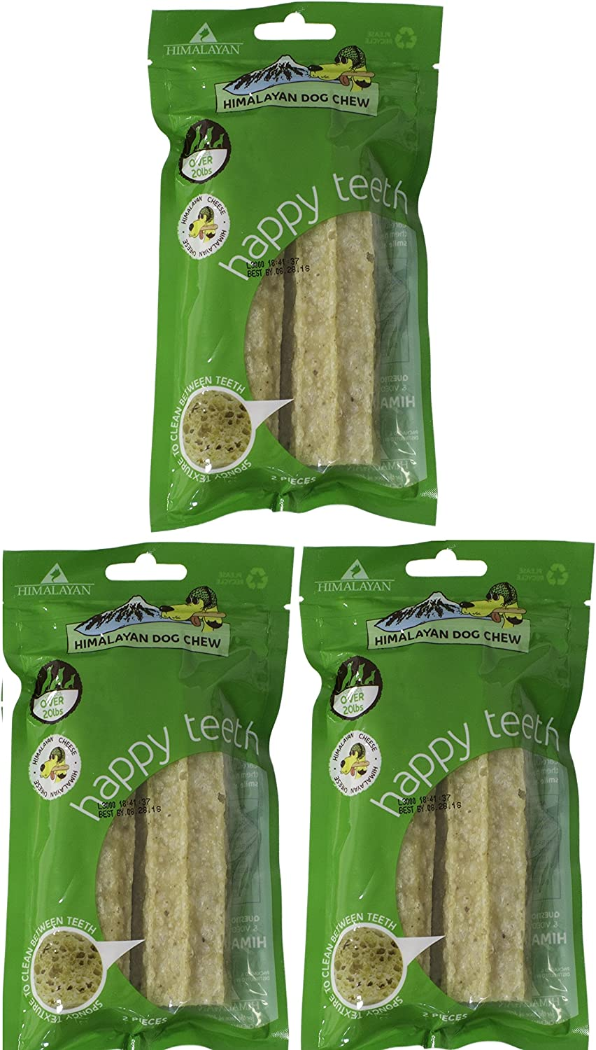 Himalayan Happy Teeth Dog Chew, Cheese, Large, Pack of 3