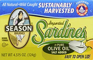 Season Sardines in Pure Olive Oil, 4.375 Ounce