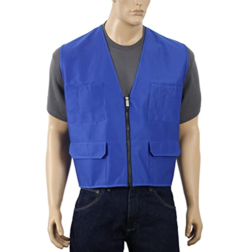 5657d515ac84e7 Safety Depot Multiple Colors Safety Vest with Pockets No Stripe Reflective  Tape Simple Economy 8038B (