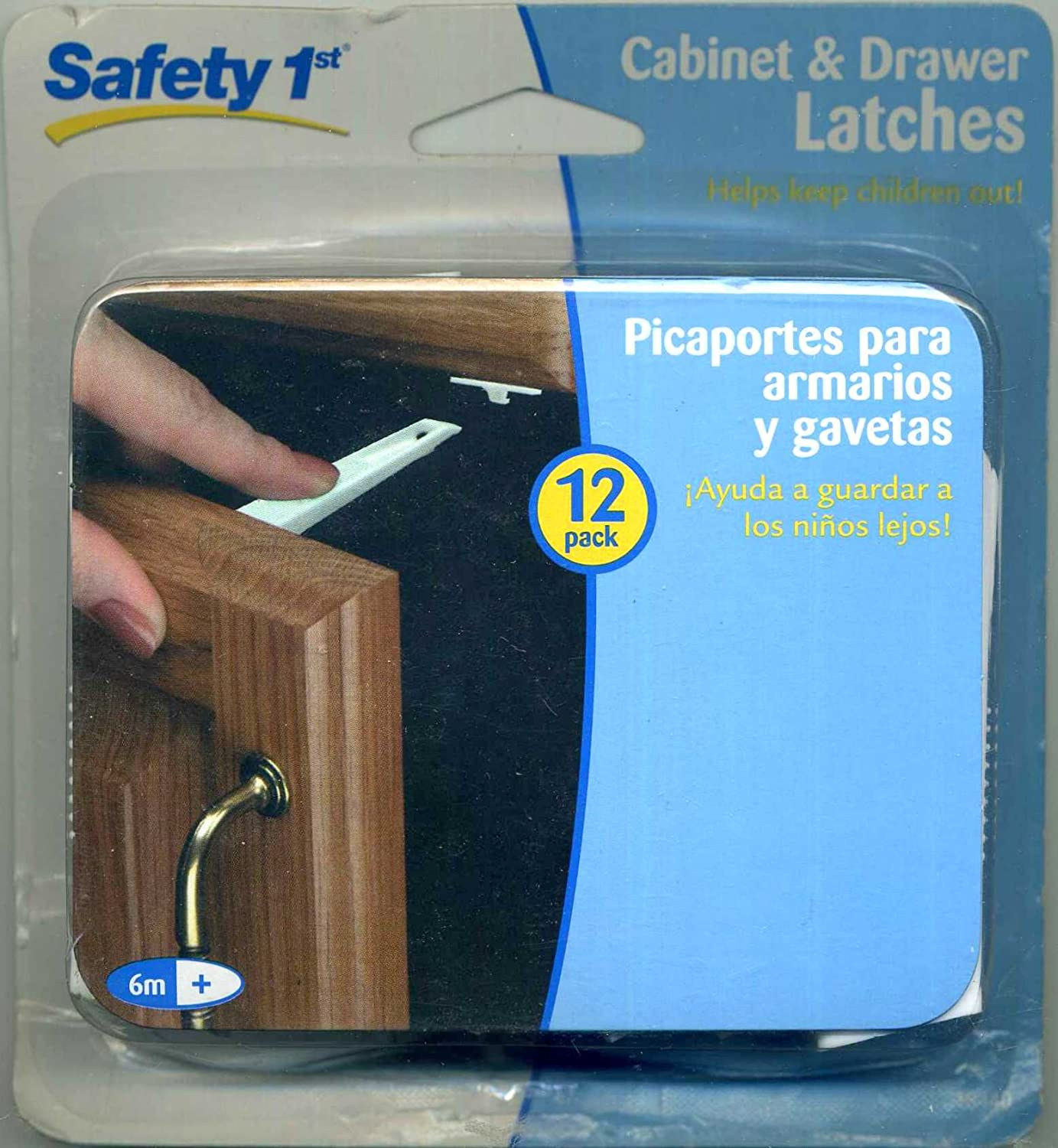 Safety 1 St Cabinet & Drawer Latches 12 Pack