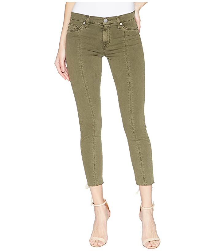 5f69c634b59 Hudson Jeans Nico Mid-Rise Crop Lace-Up Skinny Pants in Crushed Olive