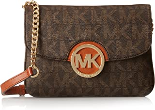 Best michael kors fulton logo large brown shoulder bag Reviews